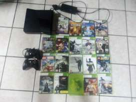 Xbox 360 )3remots)19 games and connect with 4games