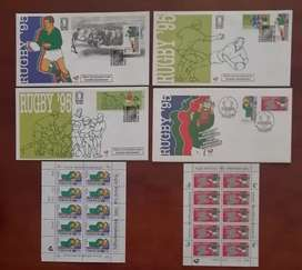 1995 Rugby World Cup Champions FDC's and MNH Stamps