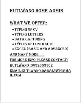 Home based typist service