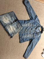 Spódnica dżinsowa i kurtka dżinsowa