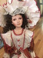 Porcelain doll порцелянова лялька кукла 75см