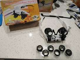 New! Watch Repair Magnifier With Two LED