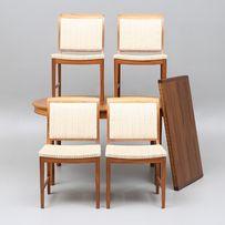 Stół i cztery krzesła projekt Bertil Fridhagen