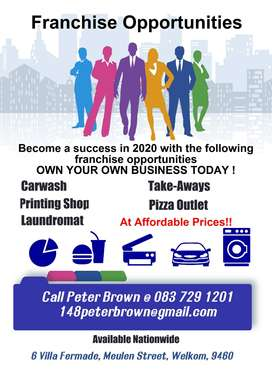 Be your own Boss in 2020! Own your own Franchise