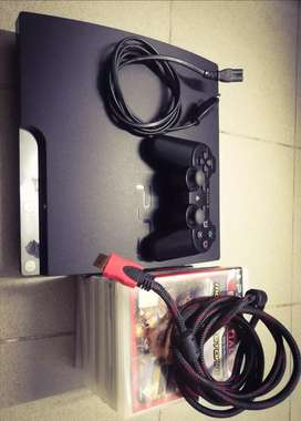 PS3 (One Controller & 10 Games)