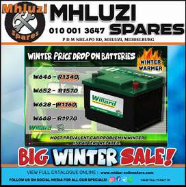 Winter Price Drop on Batteries at Mhluzi Spares!
