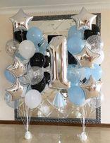 Шарики гелиевые воздушные шары(цифры конфетти звезды сердца).Доставка