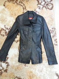 Кожаный пиджак, куртка, курточка кожа Новый Турция размер XS