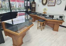 Cherry wood display counters