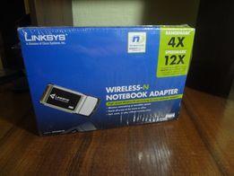 Беспроводной WiFi интернет адаптер CardBus для ноутбука Linksys WPC300