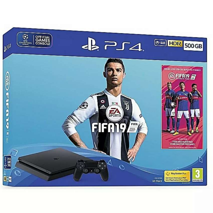 *Sony Ps4 500 GB With Fifa 19 Bundle 0