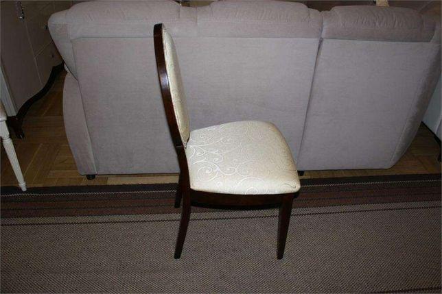 Krzesła krzesło klasyczne JFSC orzech ciemny tkanina ecrue żakard Góra Kalwaria - image 3