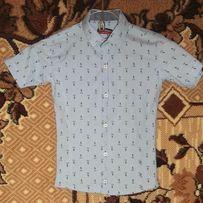 Модная детская рубашка шведка на 1-2 класс