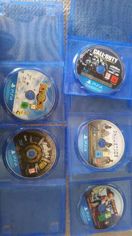 Call of duty , injustic , knack, fallout, rachet and clank