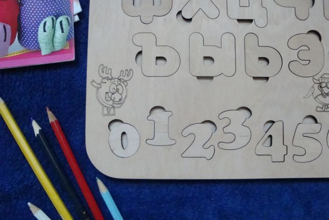 Алфавит, азбука , сортер, пазлы из дерева Чернигов - изображение 7