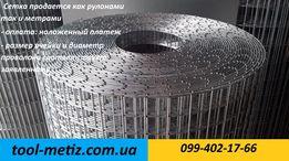 Сетка для клеток оцинкованная яч.25-25 мм. h:1.0 м. d:2.0 мм.