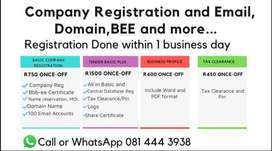 Company Registration, BEE certificate, Central Database