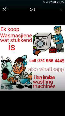 "Wanted ""Broken or Faulty TOPLOADER Washing Machines Only"