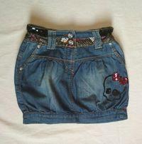 Spódniczka jeansowa rozm.134