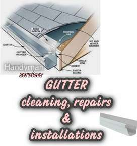 GUTTER cleaning,  repairs & installations