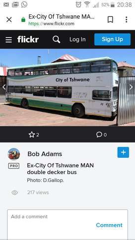 MAN OR MERCEDES DOUBLE DECKER BUS WANTED