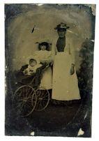 Ферротип ferrotype Портрет с дочурками 1860-70-е гг. Germany