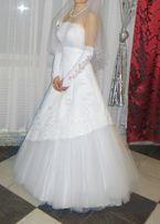 Білосніжна весільна сукня р. 40-46 ідеальний стан
