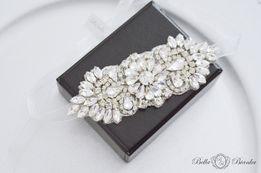 Opaska ślubna ANGEL kryształowa ozdoba do włosów elegancka opaska