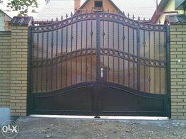 Ворота недорого! А так-же решетки, лестницы, козырьки и навесы, заборы
