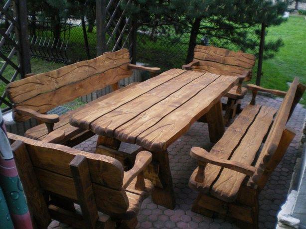 Zestaw ogrodowy KORNIK (stół + dwie ławki + dwa fotele). Ośno Drugie - image 1