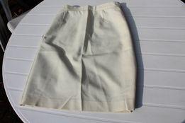 nowa kremowa spódnica na podszewce stan idealny rozm 36