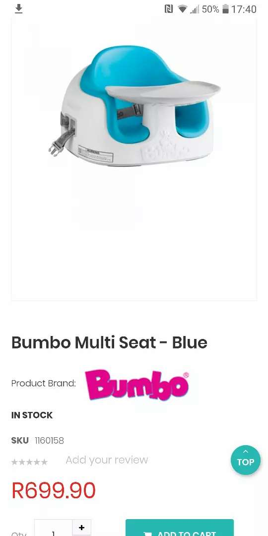 Bumbo with tray 0