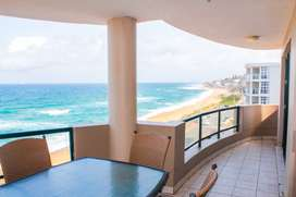 Sea views flat in Umdloti - on the beach. Furnished or unfurnished