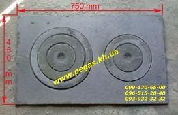 Плита чугунная большая 450х750 мм. для печи, барбекю, грубу, мангал