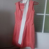 Sukienka rozkloszowana malinowa r.S