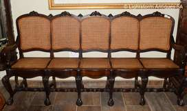 EXTREMELY RARE AFRICANA STINKWOOD TOWN CANE BENCH