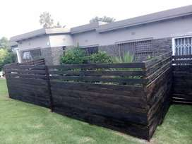 Wood cladding and solid wood fencing