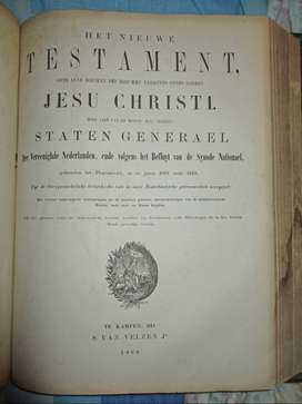 Dutch Bible 1868  make an offer
