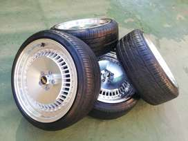 17 inch 5 hole rims and tyres
