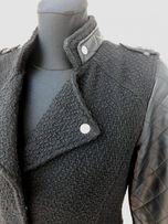 ATMOSPHERE Płaszcz Primark skórzane rękawy roz. 36
