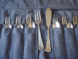 Вилки и ложки для десерта,глубокое серебрение.