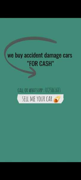 I buy any accident damage cars for cash