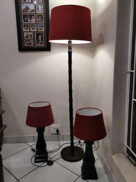 Pine wooden lamps