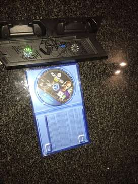 Playstation 4 controller dual charging dock with stand & cooling fan