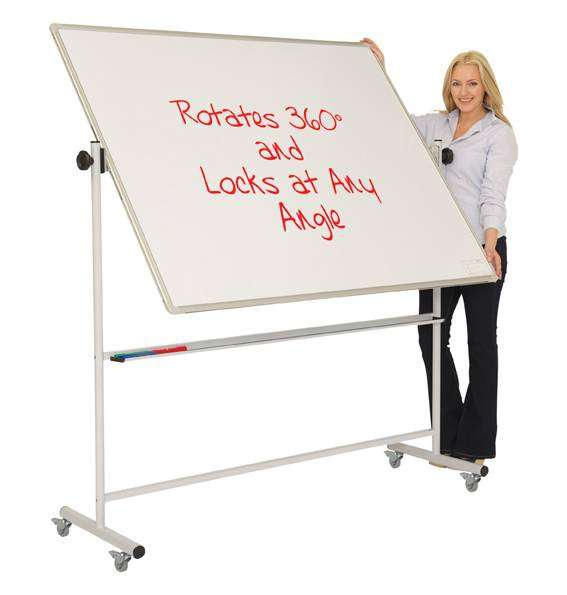 Portable Dry-Erase/Dry-Wipe/Marker/Pen Whiteboard With Wheels 0