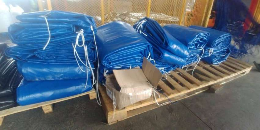QUALITY PVC TRUCK COVERS/TARPAULINS AND CARGO NETS FOR TRI-AXLE 0
