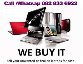 Exchange your unwanted / broken laptop for cash