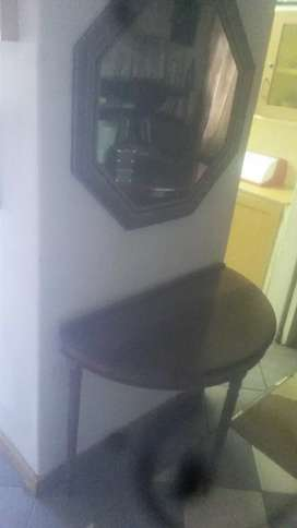 Half round imbiya table and mirror