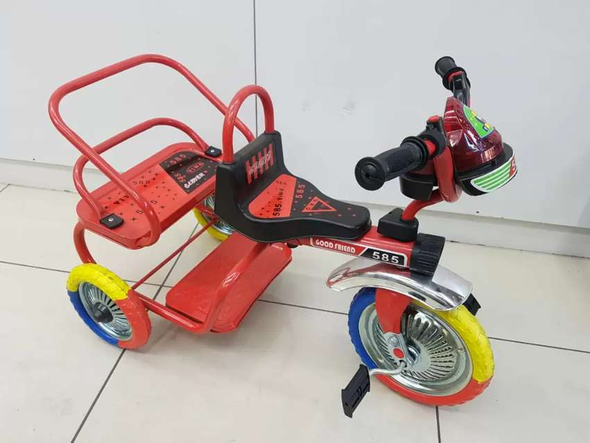 Kids Double Steel Tricycle 0