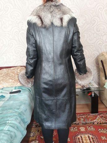 Пальто. Зима-осень. Кожа. Подстёжка-кролик Запорожье - изображение 2